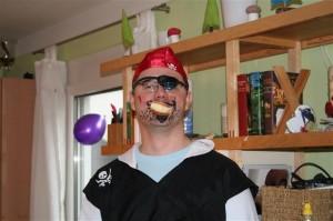 zweifachpapa als Pirat beim Kinderfasching 2011