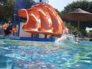 zweite Kinderrutsche auf Ca Pasquali 2011
